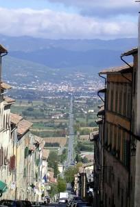 Anghiari - Panorama dal Convento de La Croce
