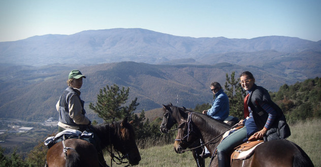 Corso di equitazione in agriturismo in Valtiberina Toscana