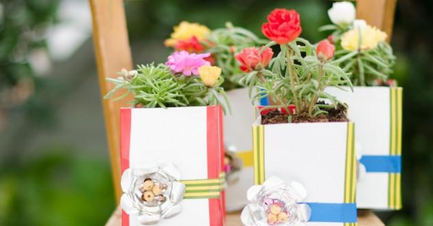 Riciclo creativo & Eco-Design: portavaso in alluminio e tetrapak
