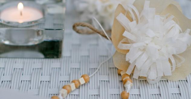 Riciclo creativo & Eco-Design: segnaposti floreali di carta forno