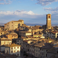 Tovaglia a Quadri Anghiari Toscana
