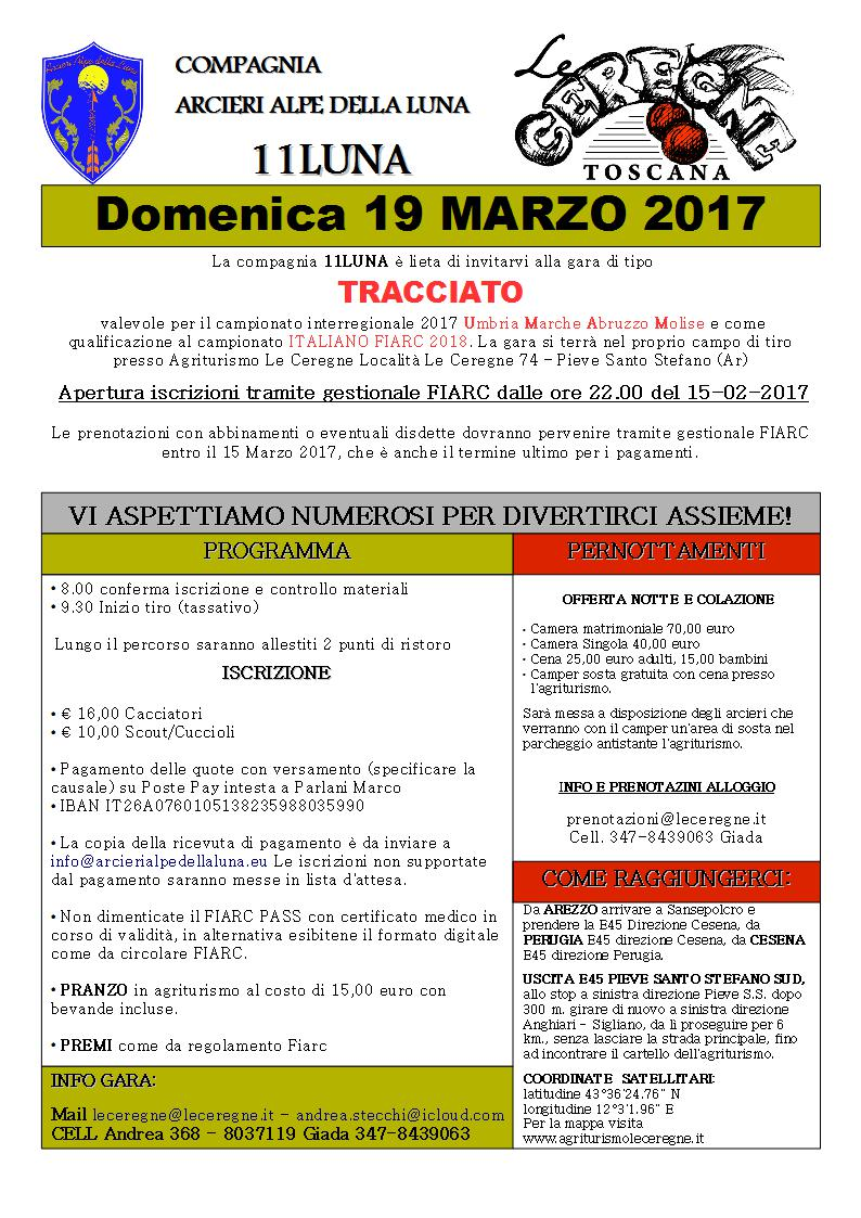TIRO CON L'ARCO INVITO GARA 19 MARZO 2017